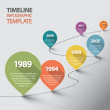 Vector retro Infographic Timeline Template with po...