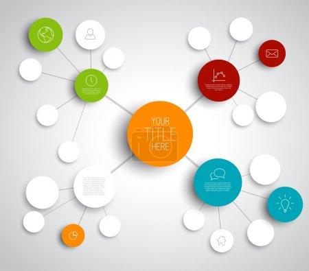 Illustration pour Modèle infographique vectoriel de carte mentale abstraite avec place pour votre contenu - image libre de droit