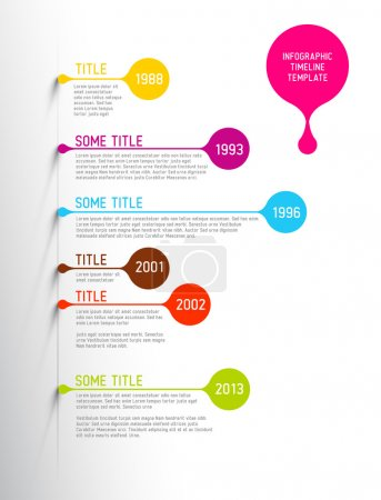 Illustration for Colorful  Vector Infographic timeline report template with bubbles - Royalty Free Image