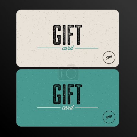 Retro Gift card template