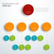 Vector modern and simple organization chart templa...