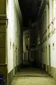 Tavira city street by night