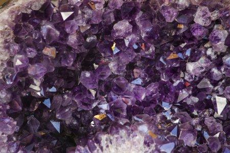 Natural violet amethyst