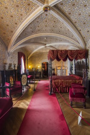 View of a inside room of the beautiful Palace of Pena