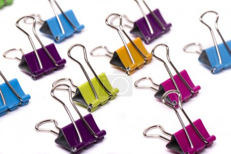 Colorful office binder clips