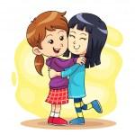 Kids doing hug play each other....