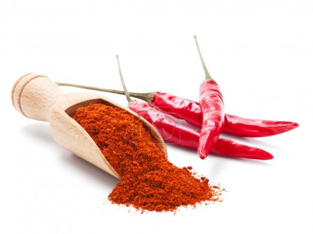 Photo for Milled red chili pepper isolated on white background - Royalty Free Image