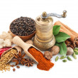 Composition with different spices and herbs isolat...