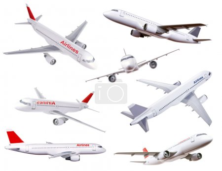 Collection of commercial plane model photos