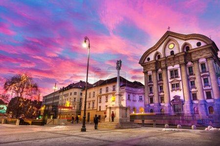 Ursuline Church of the Holy Trinity, Ljubljan, Slovenia