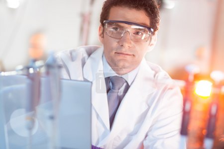 Portrait of a nano technology researcher.