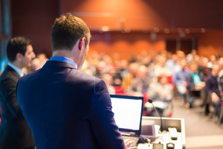 Photo for Speaker at Business Conference and Presentation. Audience at the conference hall. - Royalty Free Image