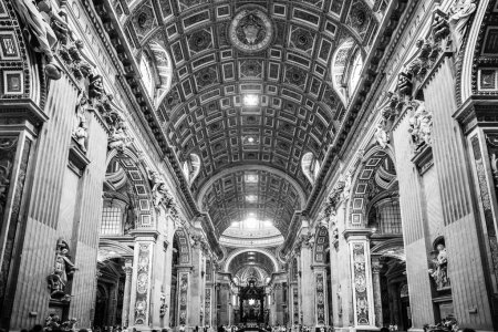 Interior of St. Peters Basilica, Vatican, Rome, Italy.