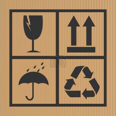 Vector cardboard symbols