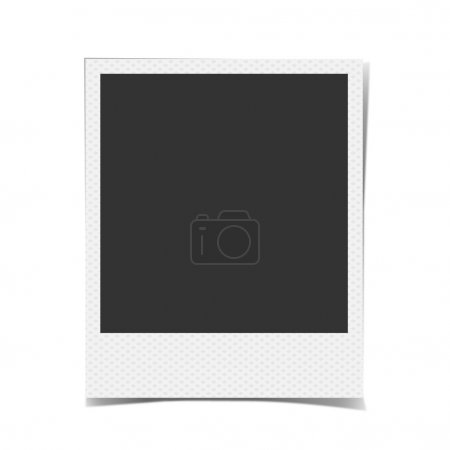 Retro blank photo frame background