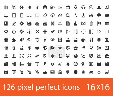 Illustration for Pixel perfect universal icons - Royalty Free Image