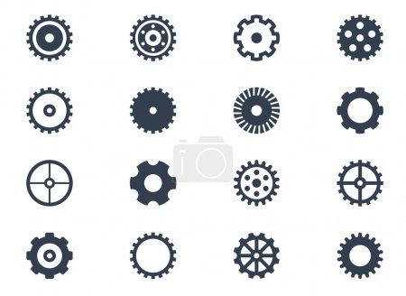 Illustration for Gears on white background - Royalty Free Image