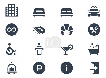 Illustration for Hotel icons on white background - Royalty Free Image