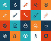 Graphic desing tools Flat series