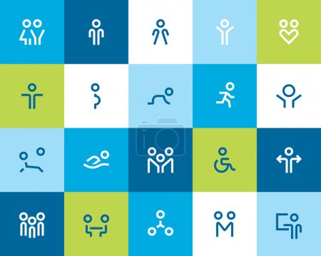 People and family icons. Flat