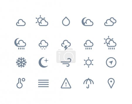 Illustration for Weather icons set. Line series - Royalty Free Image