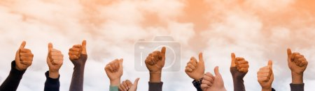 Photo for Hands giving thumbs up - Royalty Free Image