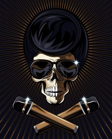 Rock star skull vector