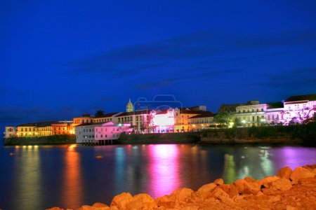 Panama City, Casco Viejo in the sunset