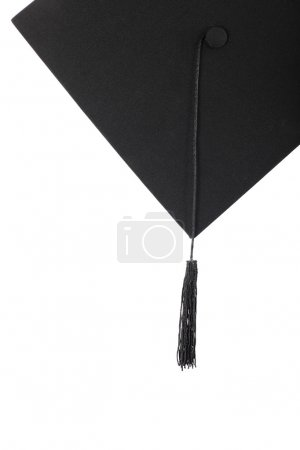 Photo for Graduation cap with black tassel on the white isolated - Royalty Free Image