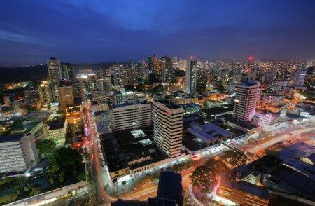 Panama City in the twilight