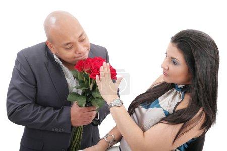 Photo pour Femme refusant des excuses de son petit ami - image libre de droit