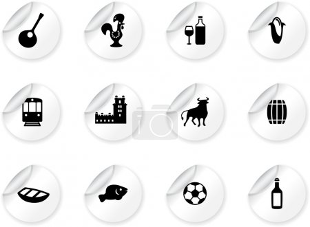 Stickers with portuguese icons