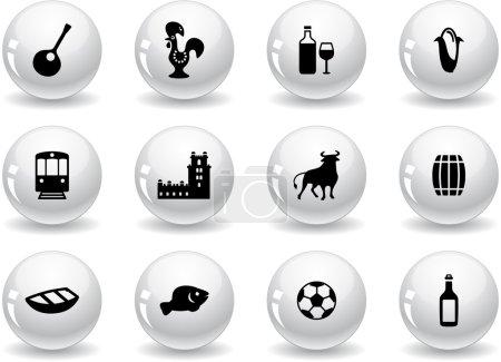 Web buttons, portuguese icons