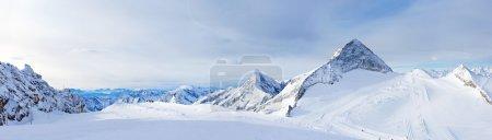 Winter landscape - Panorama of the ski resort Zill...