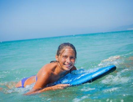 Summer vacation - surfer girl.