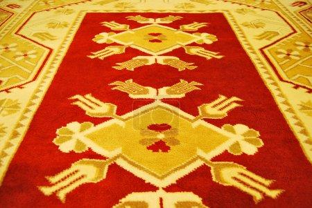 Photo pour Main coloré original tissé tapis d'Anatolie - image libre de droit