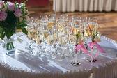Zdobené svatební brýle se šampaňským