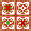 Decorative ancient pagan elements traditional for ...