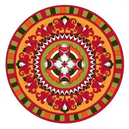 Decorative ancient pagan circle pattern traditiona...
