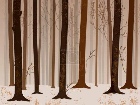 Illustration for Autumn forrest - Royalty Free Image