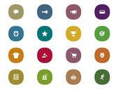 Retro mobile interface Icon Set for online shopping