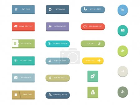 Illustration for Flat Icons for Web and Mobile Applications - Royalty Free Image