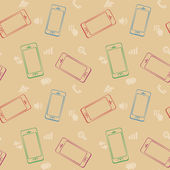 Mobile Devices Smartphone Seamless Pattern Background