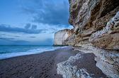 Rocky cliffs on Atlantic ocean coast