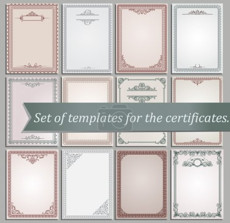 Illustration for Certificate templates - Royalty Free Image