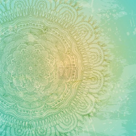 Ornamental lace pattern and grungy background