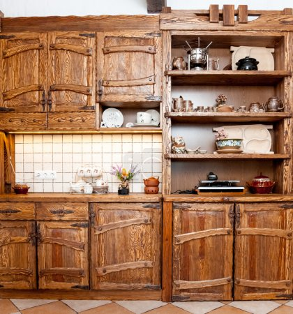 Furniture for kitchen in country style