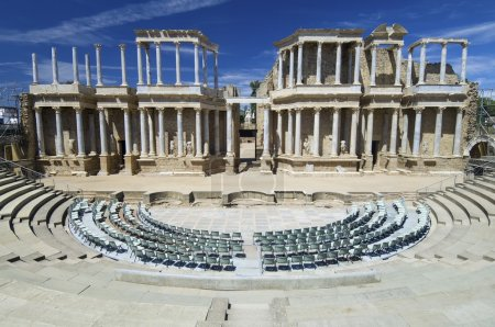Roman theater in Merida, the theater, today, is us...
