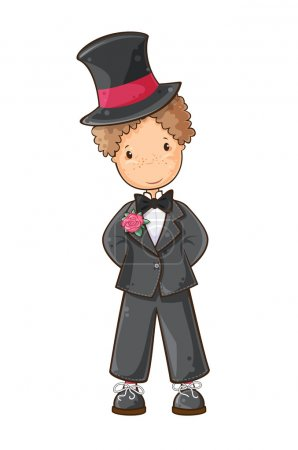Cartoon groom