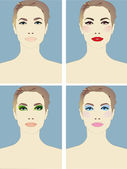 Four types of makeup for one person